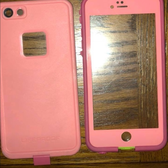 wholesale dealer c3c14 12738 pink and green iphone 6 plus lifeproof case!